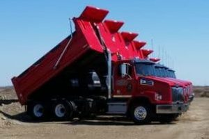Picture of Tandem Trucks (Dump) all lined up for a